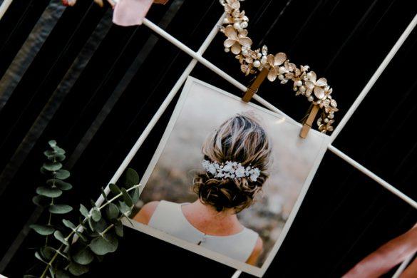 Braut mit Haargesteck Haardraht