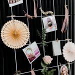 Hochzeits moodboard rosa