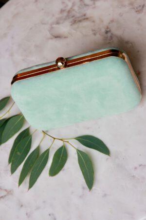 Tasche aus Wildleder mint