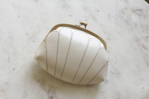 Brautclutch ivory gold