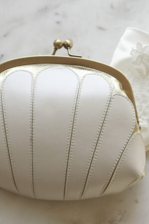 Brauttasche ivory gold