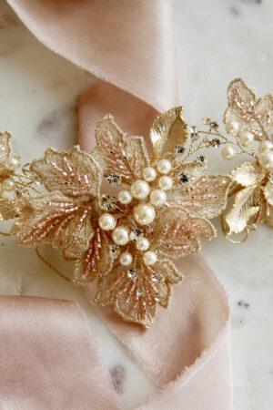Brautschmuck Perlen rosa gold