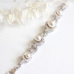 Braut Armband mit Perlen und Straß