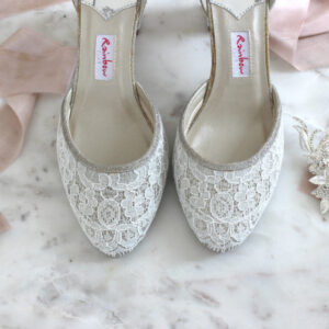 Brautschuh Spitze mit Cappuccino nude boho bridal shoe (1)