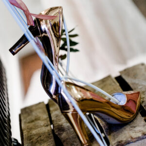 Metallic Pumps rosegold Brautschuh(2)