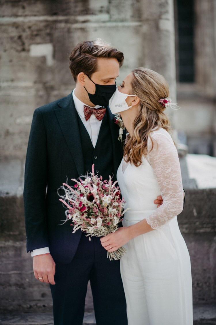 Brautmaske bride Hochzeitsfotografin Leevke Struck