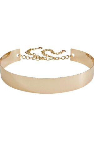 Brautgürtel metall gold mit Kette